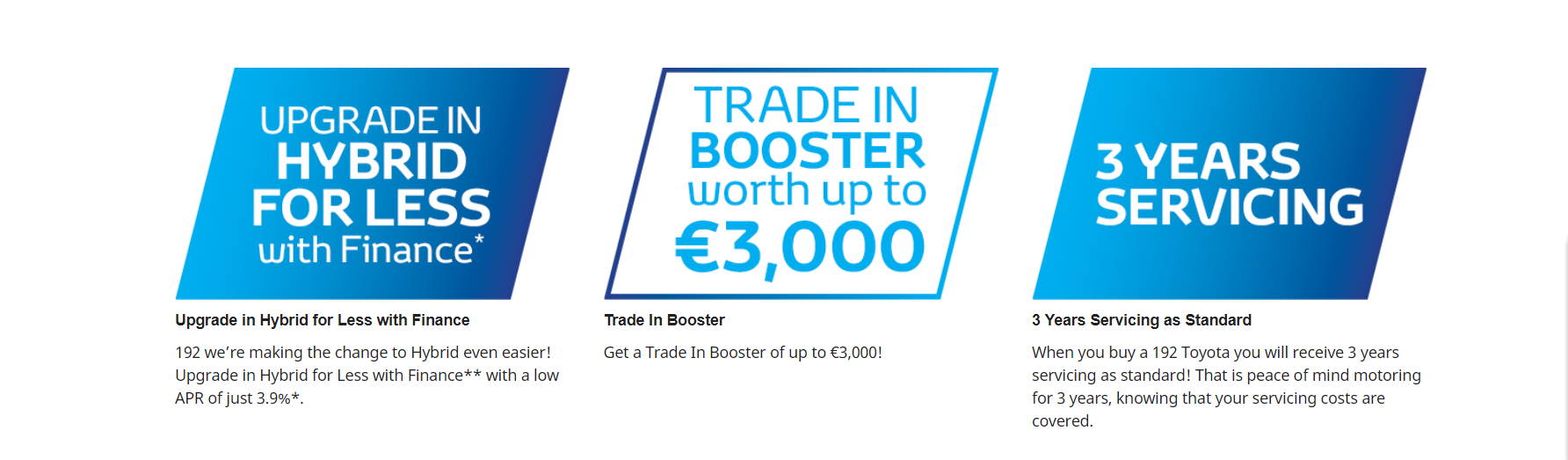 hybrid for less trade in booster 3 years servicing