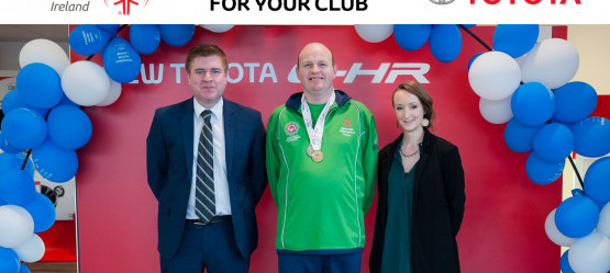 """Crossings """"Drive for your Club"""" initiative in for Naas Athlete Conor Byrne taking part in the World Games"""